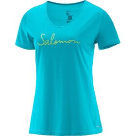 Salomon W's Mazy Graphic SS Tee blue bird